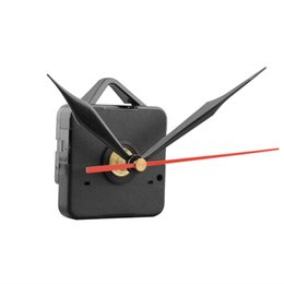 Wholesale Clock Movement Kit Free Shipping - Clock Quartz Movement Mechanism Black and Red Hands Replacement Part Repair Kit Tool Set free shipping