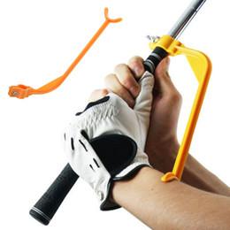 Wholesale Swing Plane - Golf Plane Swing Trainer Educational Practice Guide Beginner Gesture Alignment Golf Club Correct Wrist Training Aid Tools