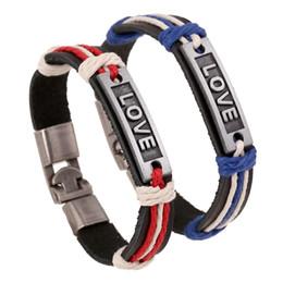 bracelets infinis pour couples Promotion Bricolage Infinity Charm Bracelets Antique LOVE Bracelets en cuir Vente chaude Mode Bracelets en cuir Bague de poignet Bijoux Bijoux