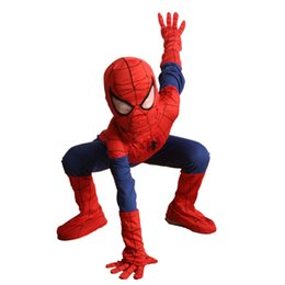 Wholesale complete costume - 2016 Autumn Complete Mavel Classic Ultimate Child Spiderman Halloween Costume Boys Superhero Fantasia Fancy Dress Kids Disfraz