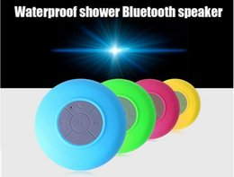 Wholesale Sucker Mini Speaker Wireless - 2016 new Wireless Bluetooth Speaker Dustproof Mini Speakers Handfree Sucker Colorful BTS-06 speaker HOT Good Quality