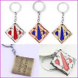 Wholesale Dota Figures - 3 Colors Game Dota 2 Logo Keychain Dota2 Logo Pendant Key Chain Keychains Figure Classic Jewelry Gift Keyring