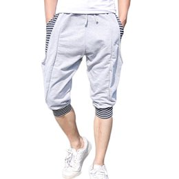 Wholesale Knee Breeches - Wholesale-free shipping 2016 summer new harem shorts men's sports lovers seven shorts trousers breeches tide size M-2XL 30 XYQ