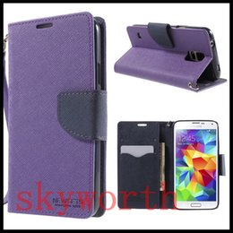 Wholesale S3 Pu Flip Card - Mercury Wallet PU Flip Leather Case Card Slot For Samsung Galaxy S3 S4 Mini S5 Note 2 3 Trend Duos HTC One M7