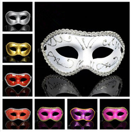 Wholesale Mardi Gras Prom Dresses - Hot Sale Men Women Costume Prom Mask Venetian Mardi Gras Party Dance Masquerade Ball Halloween Mask Fancy Dress Costume The princess mask