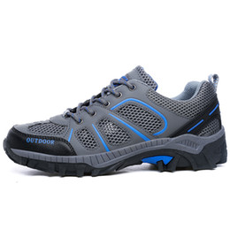 Wholesale Running Adventure - Casual Running Shoes For Men 2017 outdoor fashion Breatheable Women Mesh Sports Shoe Adventure Cushioning Trail Off-road Unisex Sneakers Run