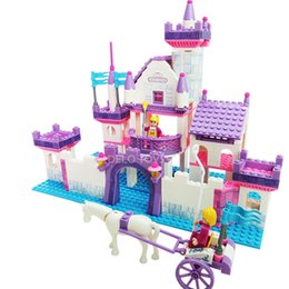 Wholesale Castle Toy For Girls - Delo toys Plastic building blocks self-assembly toys for children girls castle play set without package box JJ002962
