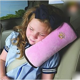 Wholesale Cooling Seat Pads - Wholesale- Soft Side Sleeper Pillow Safety Protect Neck Shoulder Pad Seat Belt Cushion for Kids Children Adult Pillow IC878062