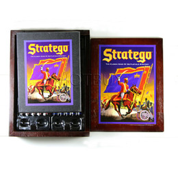 Wholesale Wholesale Wooden Tables - Stratego Board Game Vintage Book Collection Wood Wooden Box Complete Milton 1940 The Classic Game of Battlefield Strategy #4197