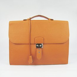 Argentina Bolso de cuero real para hombres Bolso de negocios Bolso maletín KeyLock 2 Colores Bolso de marca para niños 5A Grado Paquete de regalo (Tarjeta, Bolso para polvo) # 2813 Suministro