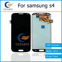 Wholesale Display Screen Galaxy S4 - Grade AAA For Samsung Galaxy S4 LCD i9500 I337 M919 I545 I9502 I9505 E300K E3 LCD Display Touch Screen Assembly Replacement Parts + Frame