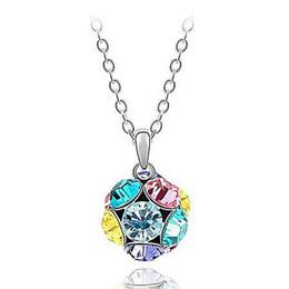 Wholesale Amethyst Grading - Love Pandora magic ball necklace Austrian high-grade crystal pendant necklace new jewelry wholesale