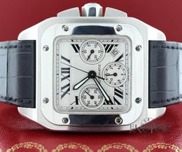 Wholesale Mens Watches Square Digital - LUXURY BRAND NEW 100 Chronograph XL Steel Mens Watch W20090X8 With BOX Men's Watches