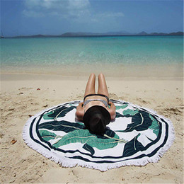 Wholesale Sexy Blue Towel - Hot Sexy Summer Round Beach Towel Pad Holiday Sunscreen Shawl Skirt Sexy Swim Female