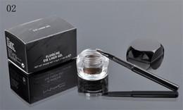Wholesale Eyeliner Gel Brush Fluidline - Hot New Makeup Eyes Eyeliner MC BRAND Fluidline Eye Liner Gel Will Brush!Black BrownFree Shipping dhl