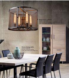 Wholesale 12v Coffee - American Country Black Color Dining Room Pendant Light Loft Net Coffee Shop Light Bars Light DIA420MM Free Shipping