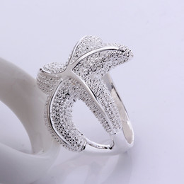 Wholesale Cheap Rings For Sale - Silver Rings with Gift Box Fashion Jewelry For Girls Women Midi Ring Animal Sea Star Huge Shape Hot Sale Classical Cheap RG-048