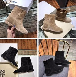 Wholesale Designer Wedges Boots - 2017 Name Brand Isabel Wedges Ankle Boots Woman Fashion Designer High Quality Hight Increasing Slip On Lady Autumn Shoes Original Box