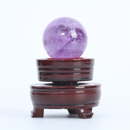 Wholesale Natural Gemstone Carving - HJT 100g Wholesale Natural Amethyst Gemstone Sphere ball amethyst healing sphere for sale Home Decorations small crystal ball