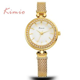 Wholesale Kimio Brand For Watch - JW755 Kimio Fashion Women's Watches For Luxury Brand Ladies Simple Wristwatch Rose Gold Female Clock Femmes Horloge