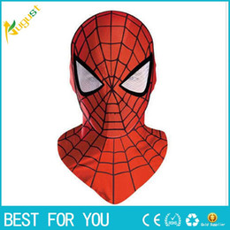 Wholesale Spider Man Mask Wholesale - New hot 1pcs Halloween Cosplay Costume marvel bounce spider man mask for adults or children Full Face Mask