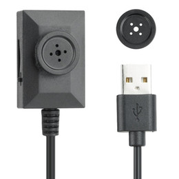 Wholesale Usb Cable Camcorder - 10pcs 720P Mini Portable Hidden Camera Button DV Camcorder With 7 24 Hours Audio Video Loop Recording 2 Meters USB Cable Retail Package DHL