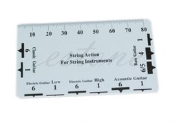 Wholesale Classical Electric Guitars - 1pc Guitar String Action Gauge String Pitch Ruler Measuring Tool for Bass Classical Electric Acoustic Guitar Luthier Tool