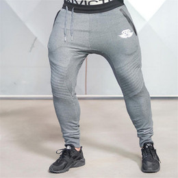 Wholesale Body Pants - Wholesale-2016 New Gold Medal Fitness Casual Elastic Pants, Stretch Cotton Men's Pants Body Engineers Jogger