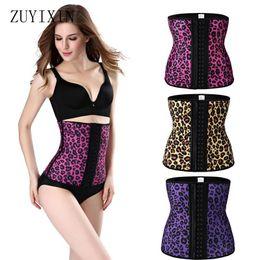 Wholesale Leopard Waist Belts - Wholesale- Zuyixin Underbust Corset Shapewear Female Rubber Waist Corset Latex Body Shapers Hot Women Sexy Leopard Slimming Corset Belt