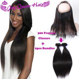 Wholesale Wholesale Silk Base Closure Extensions - 360 Lace Frontal Closure With Bundles Brazilian Human hair Lace Frontal Weave Straight Lace Frontal Closure extension silk Base Closure