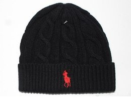Wholesale Skiing Hats - Fashion men winter beanie men hat casual knitted sports cap ski gorro black grey blue red hight quality skull caps