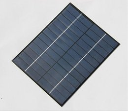 Wholesale 12v Module Solar Panel - High Quality 5.2W 6V 12V 18V Solar Cell Solar Module Polycrystalline DIY Solar Panel System Green Power 210*165*3MM Free Shipping By DHL