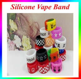 Wholesale Ecig Accessories - Silicone Vapor Ring for rda mechanical mods ecig accessories anti-slip silicon vape band beauty covering rubber ring DHL free