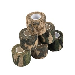 Wholesale Fast Shooting - Fast Ship Self-adhesive Non-woven 5cmx4.5m Camouflage Wrap Rifle Hunting Shooting Cycling Tape Waterproof Camo Stealth Tape
