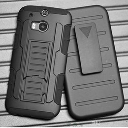 Wholesale M7 Case Holster - Future Armor Impact Defender Holster Belt Clip Combo Hybrid Kickstand Case For HTC One M7 M8 M9 Bolt Cover Skin With Stand Shockproof