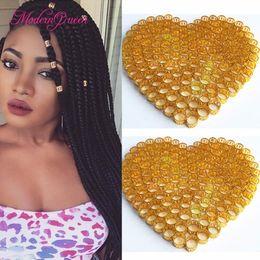 Wholesale Fashion Hair Colors - 100pcs lot Colorful Havana Mambo Link Beads Rings Box Braid Hair Braids Cuff Clip Dreadlock Beads Adjustable more colors Optional Fashion