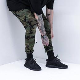 Roupas de camuflagem swag on-line-Atacado-KANYE west alta qualidade mens inferior calças jogger camuflagem camuflagem esporte hip hop calças sweatpants roupas de marca