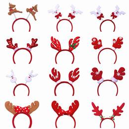 Wholesale Snowman Bells - Cute Christmas Headband Head Hair Band Decoration Santa Claus Snowman Festival Hair Band Bell Feather Accessories Christmas Gift 171029