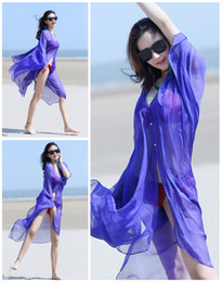 Wholesale Colthes Woman - Hot sale Cycling Sunscreen colthes Oversized Solid color chiffon silk scarf Sunscreen beach shawl towels