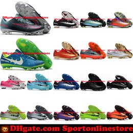 Wholesale Lace Boots For Cheap - Mercurial Vapor XI FG Mens Football Boots New Soccer Shoes Mercurial Soccer Cleats For Men Cheap High Quality Football Cleats Soccer Boots