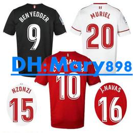 Wholesale Ben Shirt - Top Thai quality 17 18 La Liga Sevillas Fc Soccer jersey MURIEL BEN YEDDER CAROLE J.NAVAS CORREA ESCUDERO NZONZI CORCHIA Football shirts