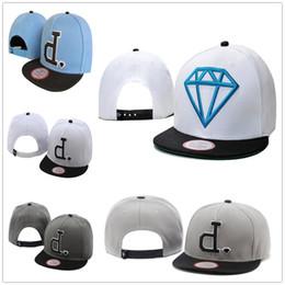 Wholesale Snap Back Diamond Hat - New Fashion D Baseball Caps Fashion Diamonds Men's Snapback Embroidery Hip-Hop Adjustable Hats Women Casquette Snap Back Wholesale
