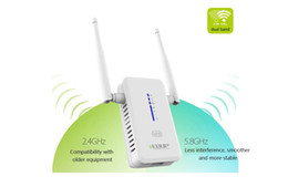 Wholesale Wifi Antenna Booster Repeater - 750Mbps AC750 Dual Band Wireless Wifi Router Repeater Extender Booster 802.11AC 2.4G 5G Networking WPS AP WI-fi Antenna