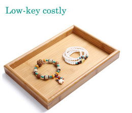 Wholesale Leather Display Ring Tray - Hot selling Jewelry Display Tray Necklace & Ring & Bracelet display holder ring earrings exhibite tray Retro furnishings