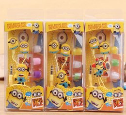 Wholesale Despicable Earphones - Cool Top Cartoon Earphone Minions Despicable Me Superman In-ear Headset 3.5mm Jake Stereo For iPhone 7 7PLUS Samsung S7 edge J5 J1 ACE