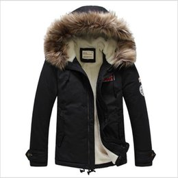 Wholesale Mens Flannel Jackets - Fall-Winter Jacket Mens 2016 Casual Hooded High Quality Lambs Wool Fur Coat Warm Men Winter Coat 3 Color Plus Size 3XL Parkas Outdoor