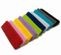 Wholesale Yellow Headband - 20 Pieces Start Sale Cotton-made Unisex Sweatbands Headband Sweat Absorbing Sporting Basketball Accessories