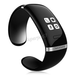Wholesale Small Watch Phones - DHL Freeshipping Best Gift L12S OLED Touching Screen Bluetooth 3.0 Bracelet Small Watch Smart Wristbands For IOS Android Phone Rich Function