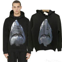 Wholesale Designer Hoodie Women - Winter Europe Paris Luxury Brand American Fashion Men Black Shark Sweatshirt Casual Women space cotton Hooded Designer Hoodies