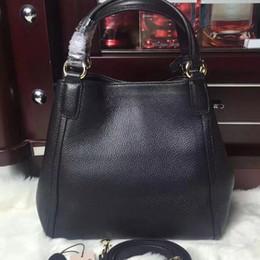 Wholesale Red Linen Bag - Excellent ! Lady Fashion genuine leather purse handbag shoulder bag
